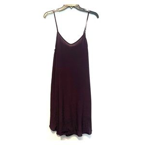 Wilfred Aritzia 100% silk slip-dress smokey purple